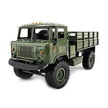 New WPLB-24 DIY Mini Off-Road RC Military Truck 1:16 2.4G Four-Wheel Drive 10km/H Maximum Speed LED Headlights RC Crawler Cars