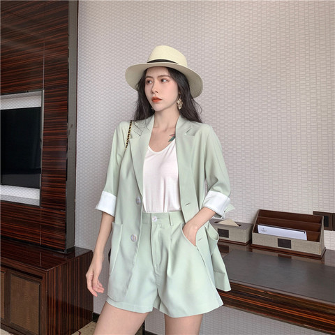 2019 Solid 2 Piece Set Women Summer Elegant Office Lady Casual Suits Two Piece Sets Top And Pants suit Multan