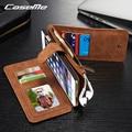 2016 case caseme lujo magnética 2 en 1 cuero genuino para iphone 6 6 s plus teléfono case tirón de la carpeta con la tarjeta multifunción Solt