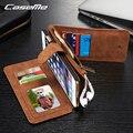 2016 caseme luxo magnético 2 em 1 couro genuíno case para iphone 6 6 s plus multifunções carteira flip phone case com cartão Solt