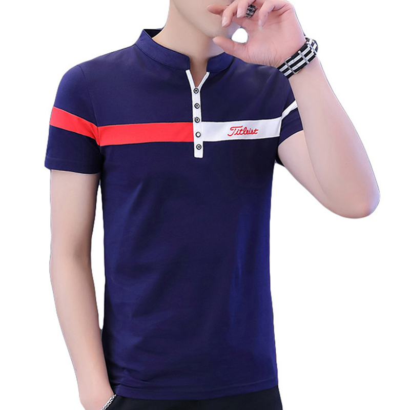 Cotton Striped   Polo   Shirt Mens Breathable High Quantity Summer Short Sleeve Fashion Casual Top New Arrival Streeetwear Top Slim