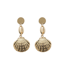 2019 Summer Conch Shell Earrings For Women Metal Alloy Drop Earring Gold Silver Color Vintage Earing Brincos Beach Jewelry