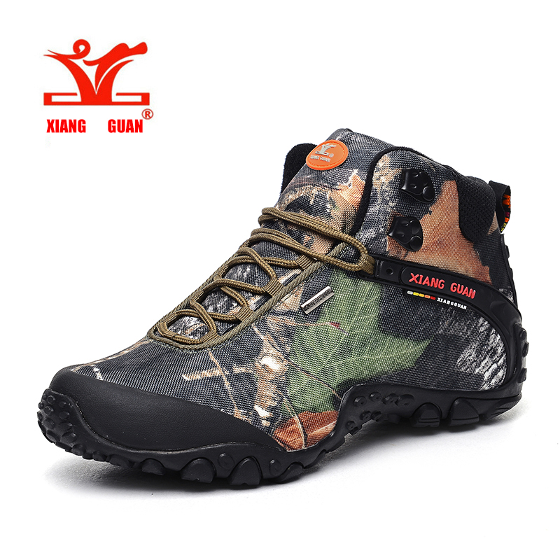 XiangGuan brand men and women outdoor Hiking shoes waterproof canvas sport trekking boots Anti-skid Wear Mountain Climbing Shoes xiangguan man hiking shoes men waterproof trekking boots green breathable sport mountain climbing shoe outdoor walking sneakers