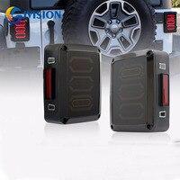 For Jeep Wrangler JK Smoke Lens LED Rear Signal Reverse Tail Lights Brake Lamp USA & European Model