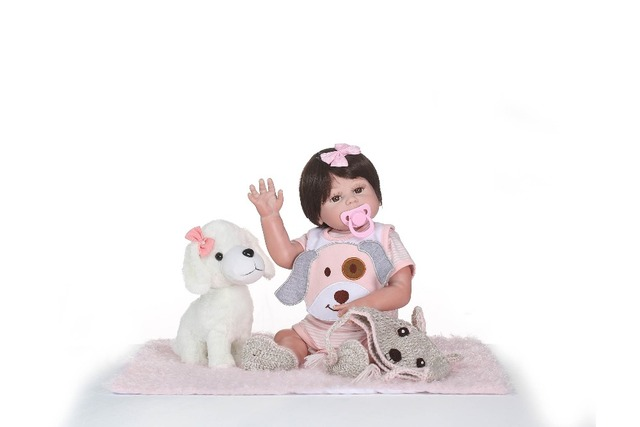 Full Silicone Real Girl Body Reborn Baby Doll Realistic Newborn Baby Toys 1