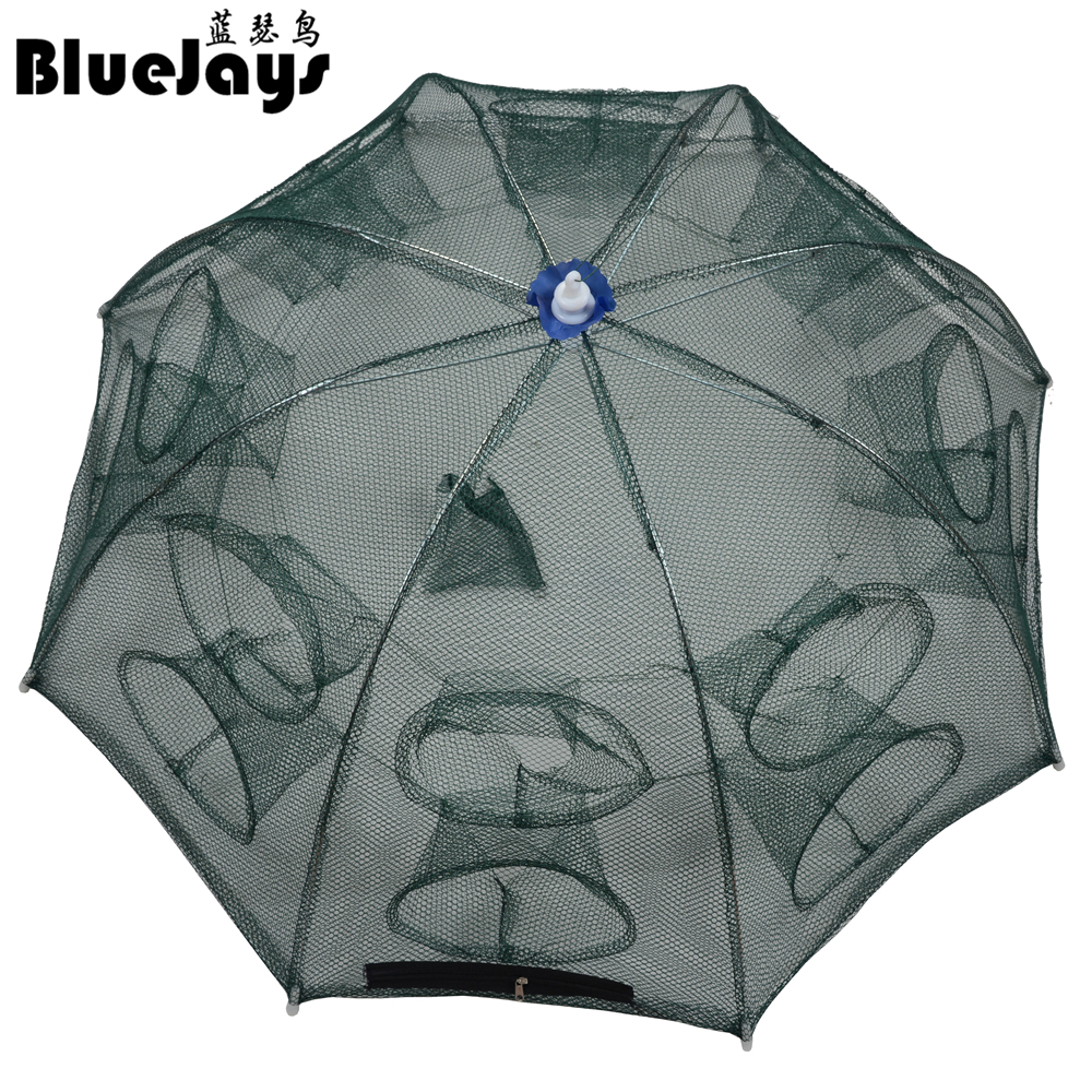 BlueJays Automatic Fishing Net Shrimp Cage Nylon Foldable Crab Fish Trap Cast Net Cast Folding Fishing Network Free shipping