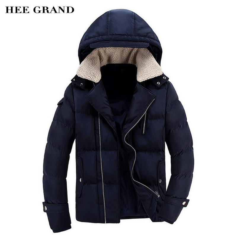 HEE GRAND Men Stylish Parkas 2017 New Solid Color Warm Padded Winter Loose Thick Parkas Jaqueta Plus Size L-3XL MWM1727 3m vhb tape 4926 gray 45mil 1inx36yd pack of 1