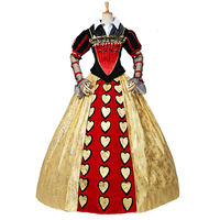 2018 Custom Made New High Quality Alice In Wonderland The Red Queen costume dress adult women Halloween Cosplay Costume