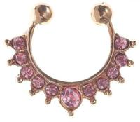 Rose gold Pink gem