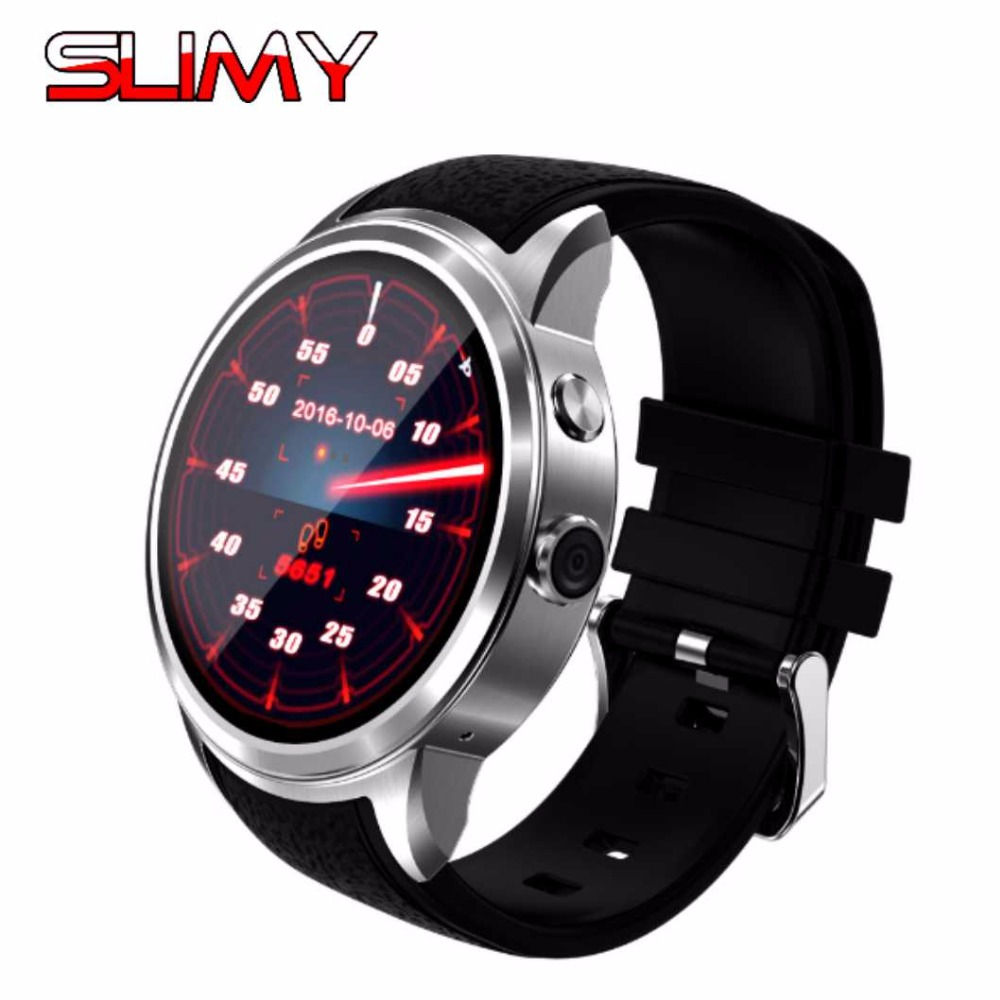 Slimy Best Smart Watch Android 5.1 Smartwatch Phone 3G MTK6580 512MB/8GB Heart Rate Monitor with 2.0 Camera Wifi GPS Play Store slimy k98h sim smart watch heart rate monitor smartwatch android 4 4 mtk6572a pedometer bracelet with 3g gps smartwatch stock
