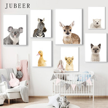 Scandinavian Style Animal Print Nursery Posters Cute Animals Decorative Picture Cuadros Decoracion Salon and Prints