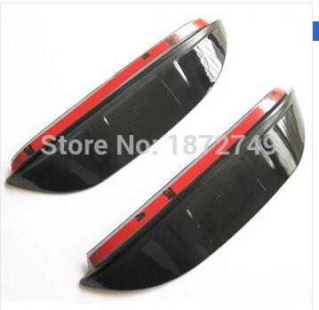 review mirror rain snow shade guard visor car accessories door visor 2pcs for 2012 2014 KIA
