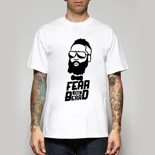 84e3e79d9751 Create Your Own James Harden tee shirts O-Neck The fashion Fear the Beard  shirt Cotton free shipping t shirts