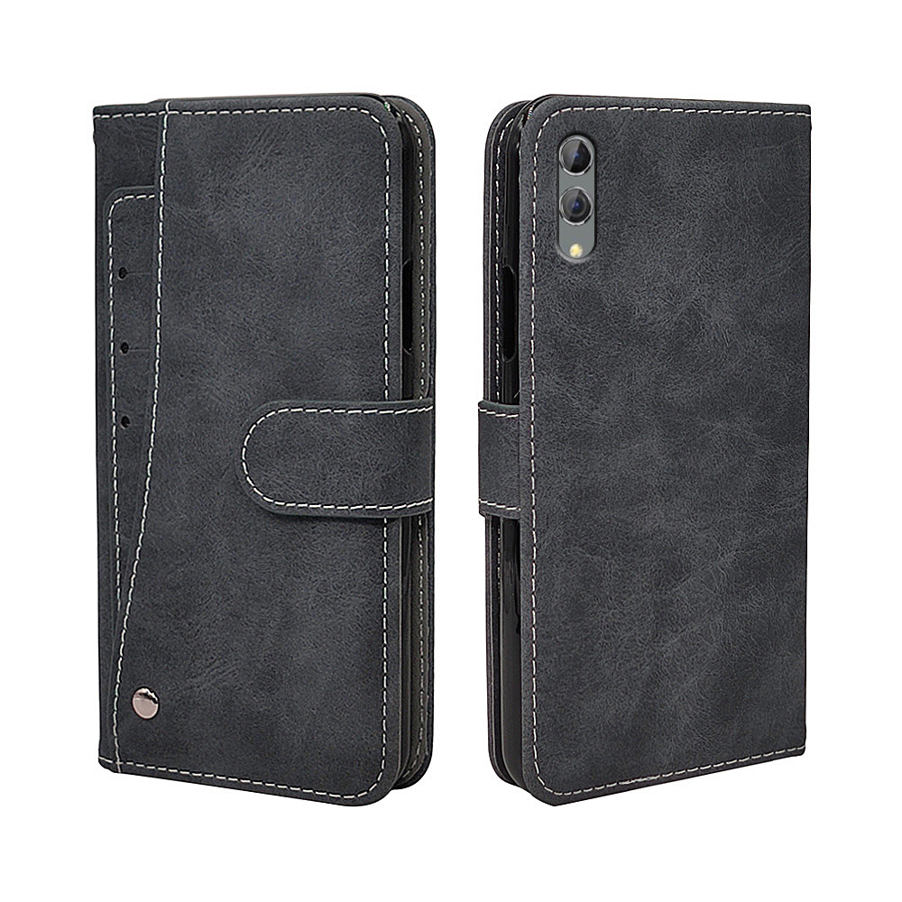 Luxury Vintage Case For Xiaomi Black Shark 2 3 Pro Case Flip Leather Silicone Wallet Business Cover TPU With Card Holder(China)