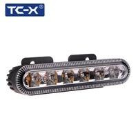 TC-X 6 LED 자동차 경찰 스트로브 발파 10 모드 점멸 자동 경고 빛 높은 전원 램프 구급차 공공 보안 보트