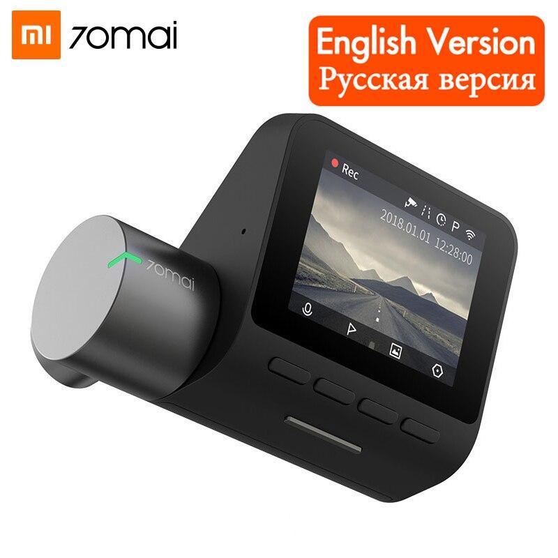 Xiaomi 70mai pro traço cam 1944 p gps adas câmera do carro dvr wifi visão noturna monitor de estacionamento controle voz inglês gravador vídeo