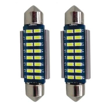 2 шт. <font><b>Canbus</b></font> <font><b>LED</b></font> 12 В 6000 К серии 31 мм 36 мм 39 мм 42 мм 5 Вт- 8 Вт светодиодные лампы освещения 3014 12 В лицензии лампы одежда