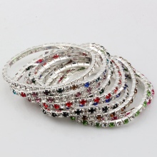 Hot sell ! Lot 20 Pcs Colorful Spring Row Rhinestone Bracelet 1  a0372