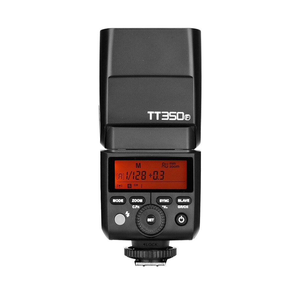 TT350F Camera Flash Speedlite 2.4G TTL HSS GN36 1/8000s for Fujifilm Fuji X-Pro2/1 X-T20 X-T10 X-E1/E2 X-A3 X100F/S/T X-T2 X-T1 godox tt685 tt685f 2 4g wireless hss 1 8000s ttl flash speedlite for fujifilm x pro2 x pro1 x t10 x t20 x t2 x t1 x100f x100