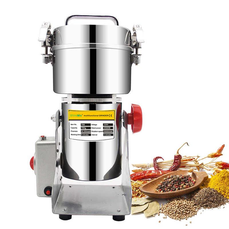 700g tipo balanço elétrica grãos de ervas em pó miller máquina moedor alimentos secos alta velocidade inteligente especiarias triturador cereais