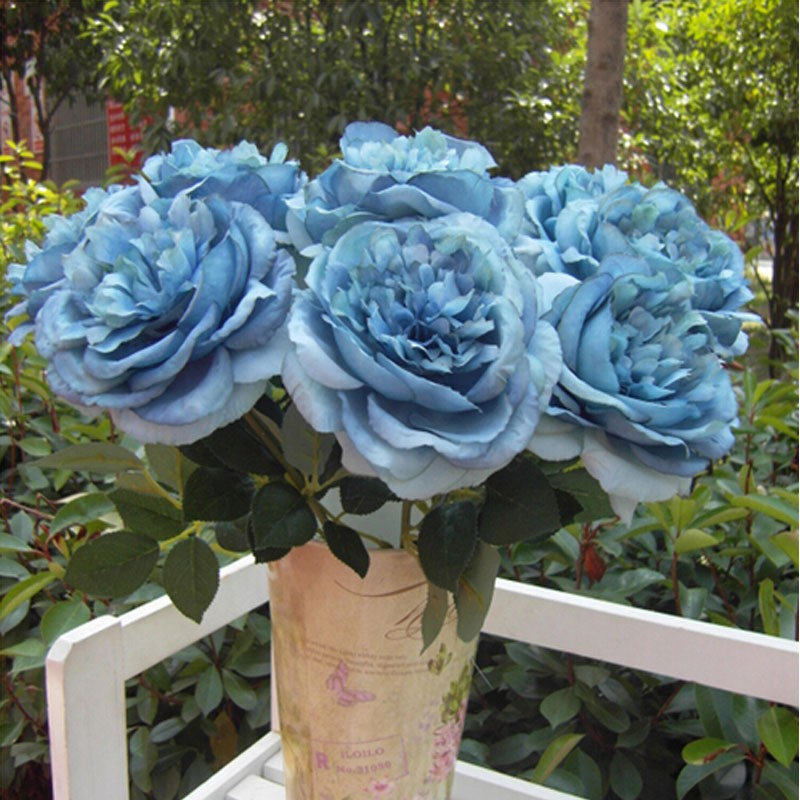 Brand new 1 bouquet single big fower artificial peony silk flowers brand new 1 bouquet single big fower artificial peony silk flowers wedding party home decor blue in artificial dried flowers from home garden on mightylinksfo