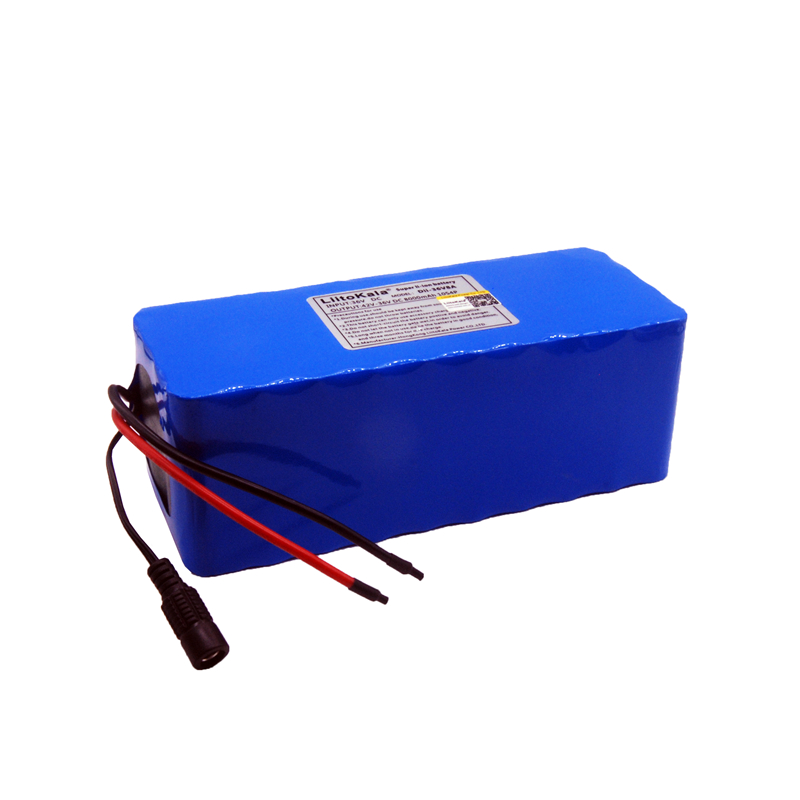 Image 3 - LiitoKala 36V 10ah 500W 18650 lithium battery 36V 8AH Electric bike battery with PVC case for electric bicycle-in Battery Packs from Consumer Electronics