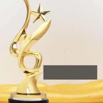 Спортивная премии трофей Чашки золотистые металлические Кубка Вентиляторы сувенир спортивные трофеи наградных медалей 21 см высота