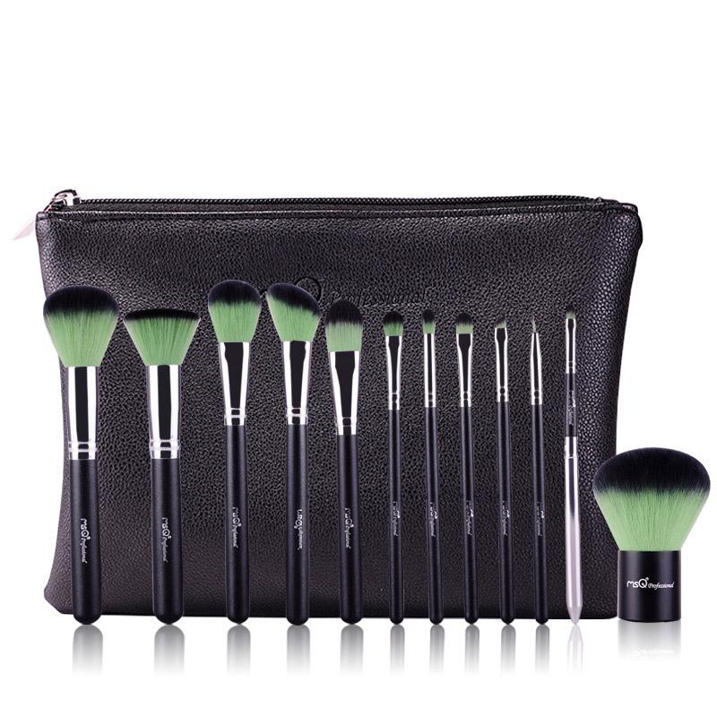 BearPaw 12 Pcs Makeup Brush Top Quality Synthetic Hair Professional Beauty Tool Make up brushes Set цена