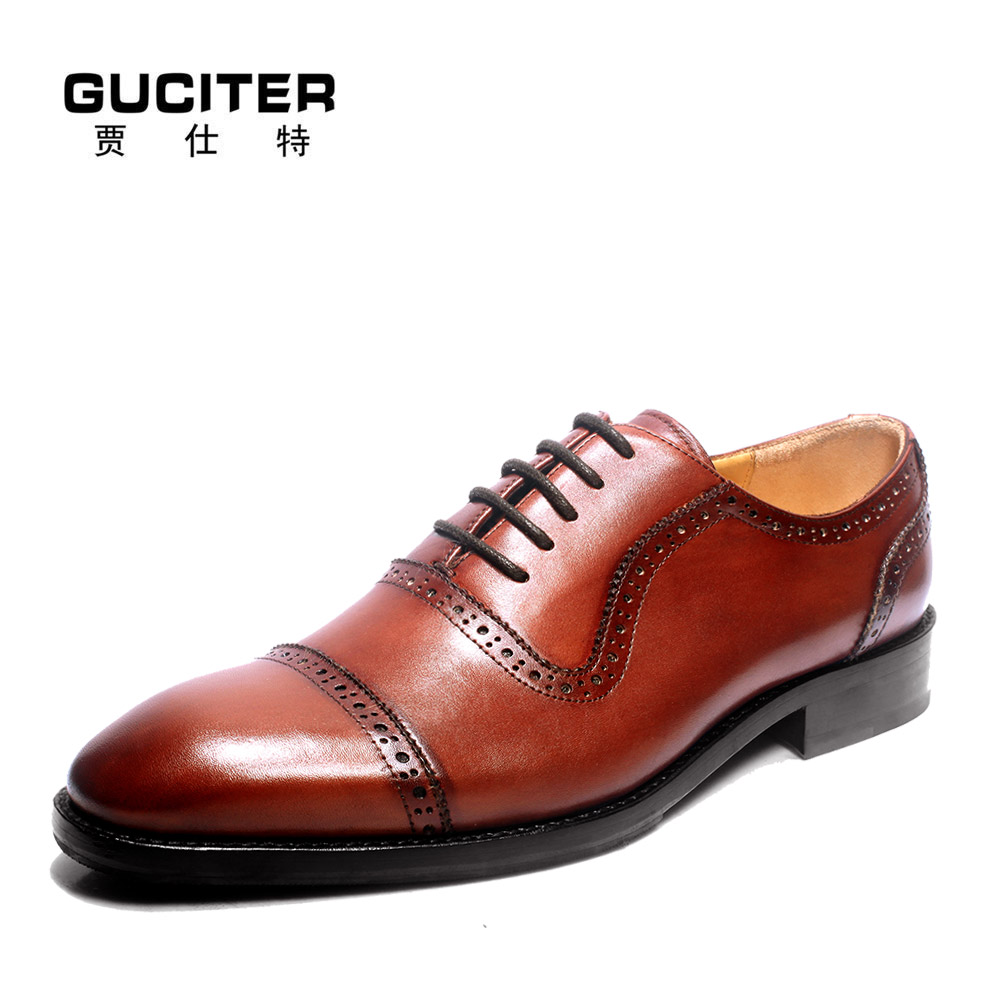 Goodyear manual custom made men's shoes Oxford pointed private business men leather shoes by handmade shoes high-end dress shoes мачете 2 сталь 65х13