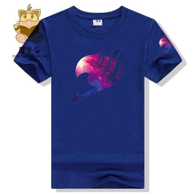 Fairy Tail Anime High Quality Print Casual Fashion Short Sleeves Men's T-shirt