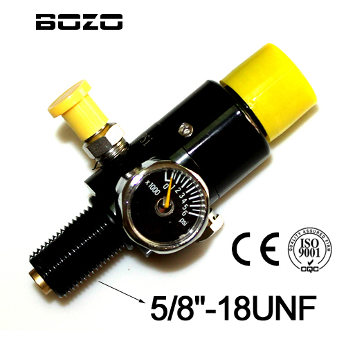 US $12 49 |co2 cylinder paintball 4500PSI Air Tank Compressed Air Regulator  Output air Pressure 1000PSI 5/8