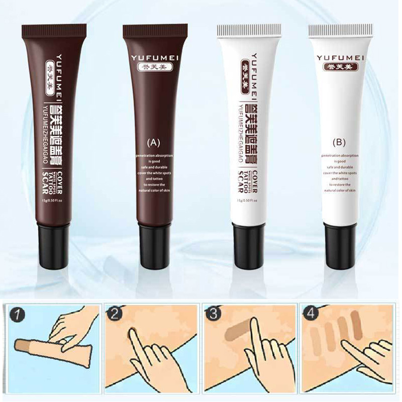 2 Pcs Skin Make-up Concealer Cream Tattoo Scar Birthmark Cover-up Cream MH88