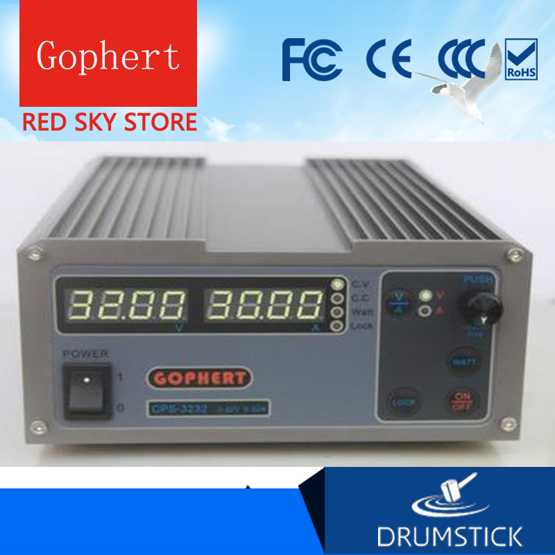 Redsky Gophert CPS-3232 DC Switching Power Supply Single Output0-32V -0-32A 1000W adjustable cps3232 1000w 0 32v 0 32a high power digital adjustable laboratory dc power supply 220v cps 3232