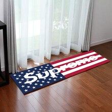 EE. UU./UK Flag Suprema Esteras Súper Blando de Coral Polar de Dibujos Animados de Alfombras 40*100 cm Dormitorio Sala de estar cocina Baño Mat