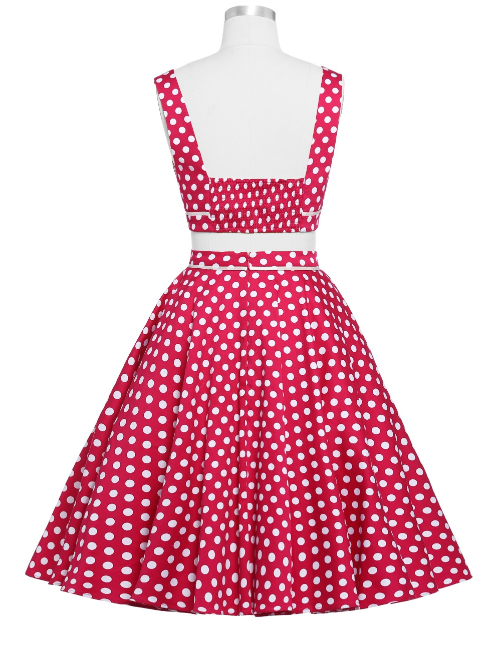 137d0fe38de9 Women Rockabilly swing Clothing pin up Dress robe Polka Dots vestidos  Summer style Retro two piece 50s 1960s Vintage Dresses