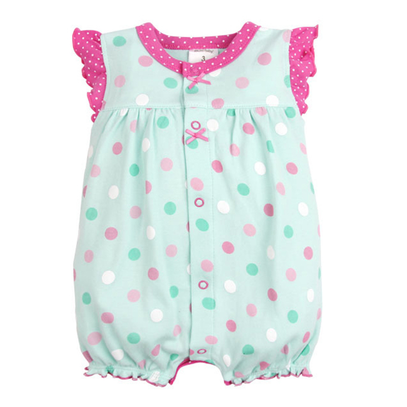 Baby Rompers Summer Baby Girls Clothing Cartoon Newborn Baby Clothes Roupas Bebe Short Sleeve Baby Girl Clothes Infant Jumpsuits 9
