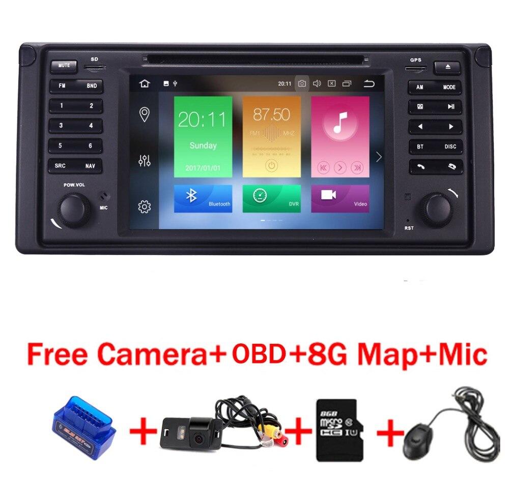 4G + 32G 8 Core 7 écran tactile Android 8.1 lecteur dvd de voiture pour BMW E39 5 série 97-07 Range Rover 02-05 avec Bluetooth RDS Canbus