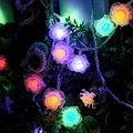20M led string lights 200 Rose led flower lamp holiday decoration Festival wedding party Christmas light indoor outdoor use