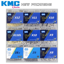 NEW KMC Bike Chain X8 X9 X10 X11 X12 Bicycle Chain 11Speed Road MTB Crankset  SRAM 8 9 10 11 12s Derailleur 116L genuine kmc x8 x9 x10 x11 mtb bike chain 8 9 10 11 speed bicycle chain 116 links steel road bike chain with missing link