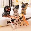 Small Size 12pcs/Lot Resin Dog Model Anime Dog Action Figure Dolls Decor Gift HT3846