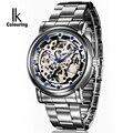 Классические мужские часы IK  автоматические механические часы из нержавеющей стали с кристаллами