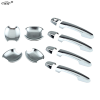 RIN 4pieces DSP Chrome Door Handle Covers + 4 pieces Bowls fit for TOYOTA Corolla with PSG Keyhole