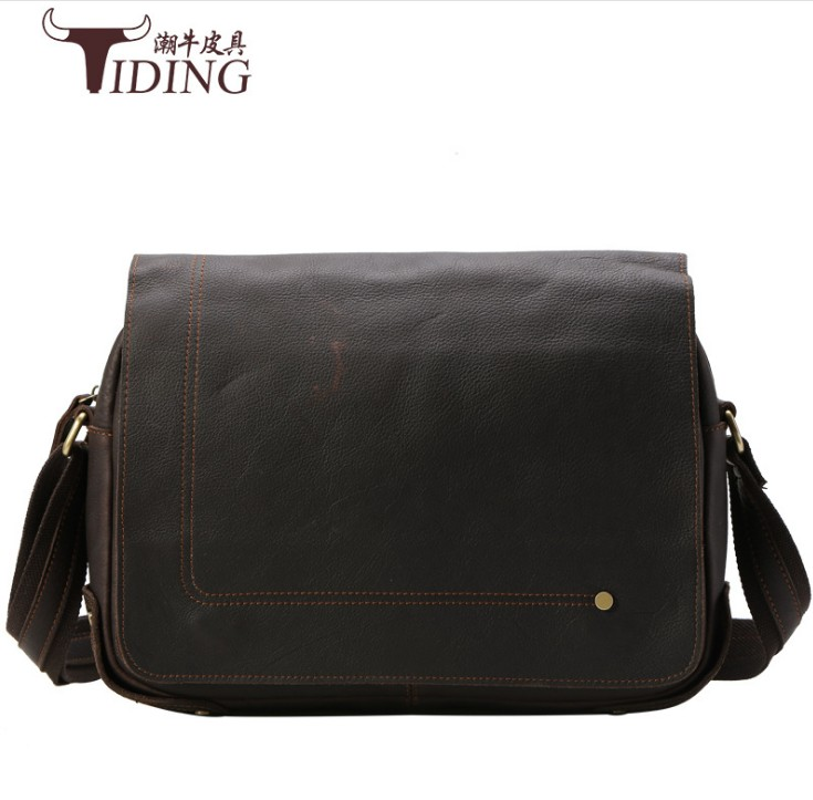 New Business High Quality genuine Leather Man Shoulder Crossbody Bag Black Male Bag men fashion brand vintage shoulder bags цена