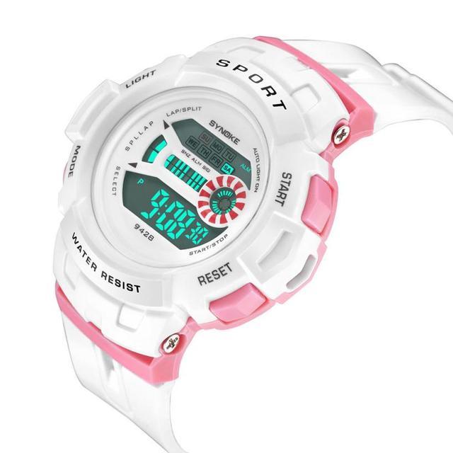 New Waterproof Children Watch Boys Girls LED Digital Sports Watches Plastic Kids