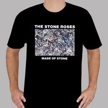 Tee Shirt Printing Design Men Crew Neck New The Stone Roses *Made Of Stone Rock Band Men'S Black Short Sleeve T Shirts