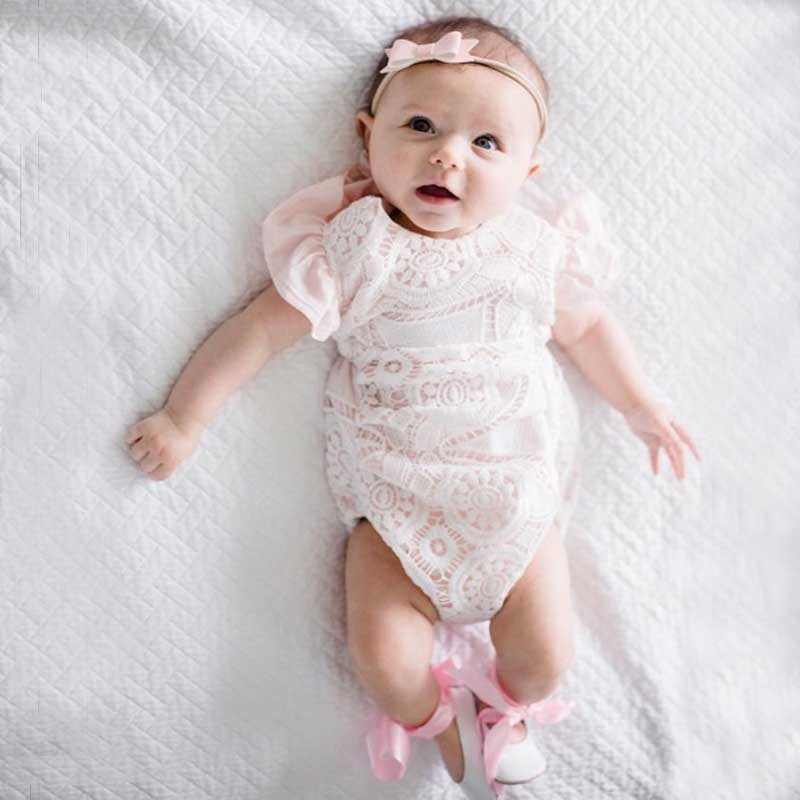 2018 New Baby Girl Romper Clothes Toddler Girls Summer Infant Bebes Princess Lace Rompers Jumpsuit One Pieces Outfit Sunsuit