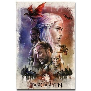 Плакат гобелен шелковый Игра престолов постер в ассортименте
