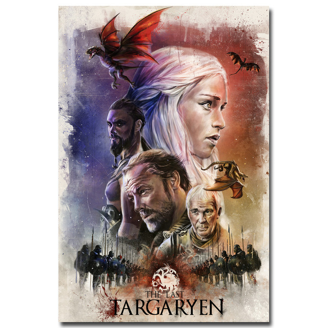Game of Thrones Hot TV Series Art Silk Poster Print 12×18 24x36inch Daenerys Targaryen Wall Picture 042