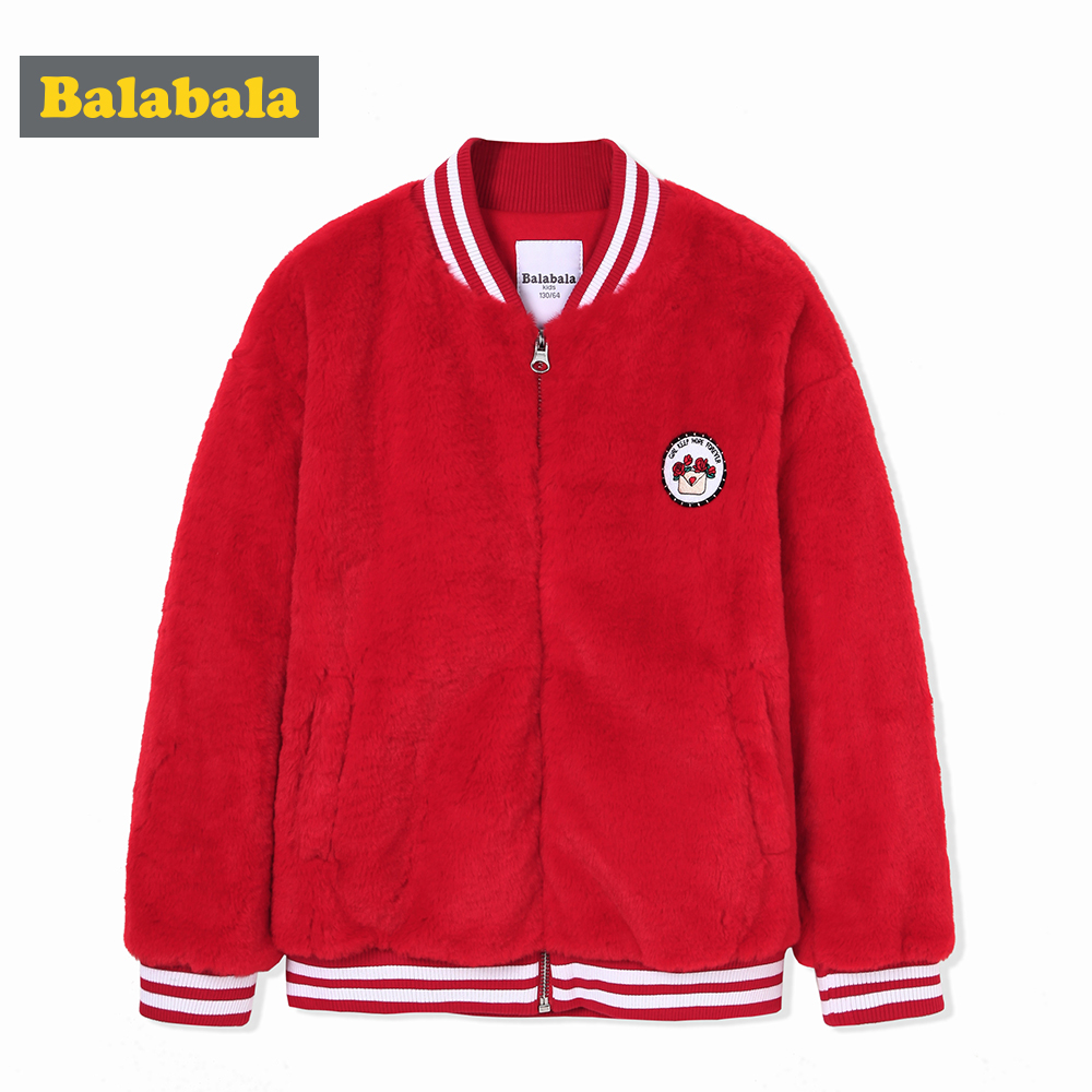 balabala children's jacket Baseball Clothes girls Coats floral pattern Outerwear Casual Jackets Infant Children winter outwear unique digital pattern embellished baseball hat