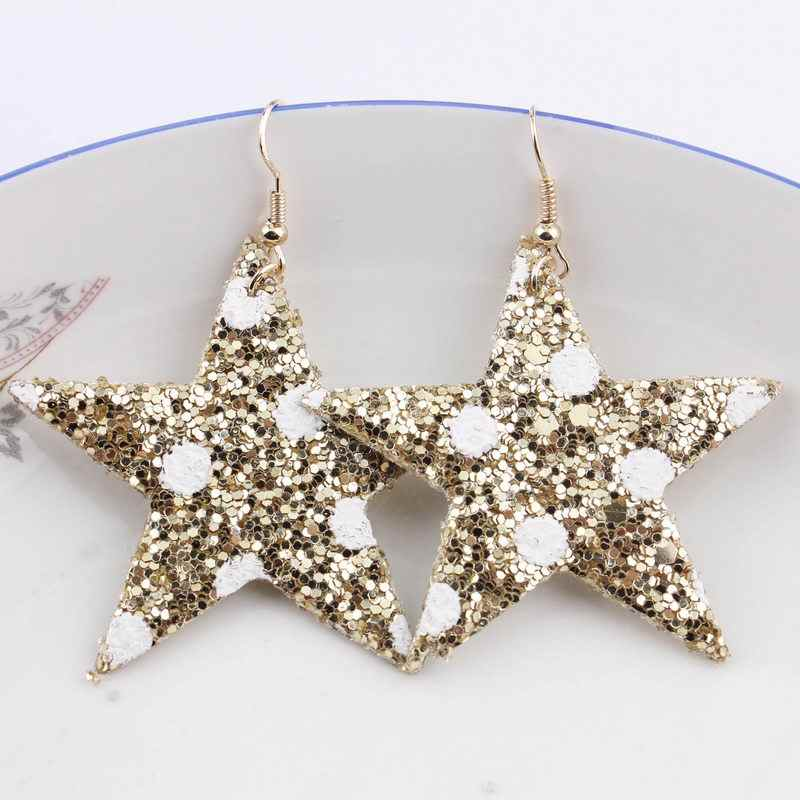 2cf8c0febc Detail Feedback Questions about ZWPON 2018 New Glitter Leather Star ...